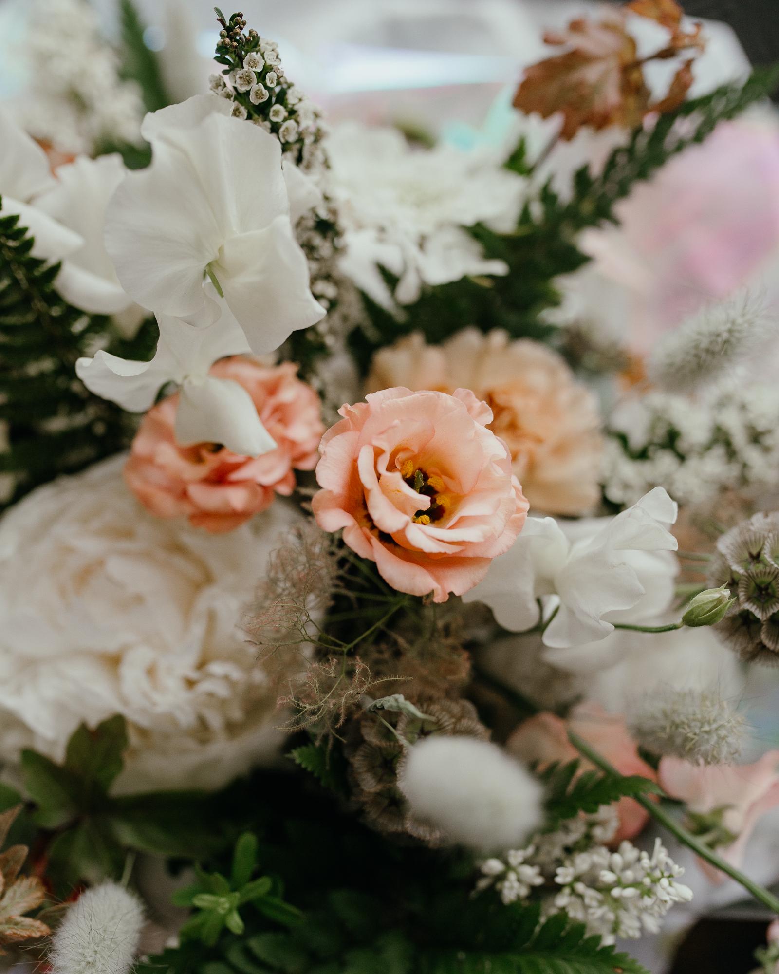 details of bridal bouquet