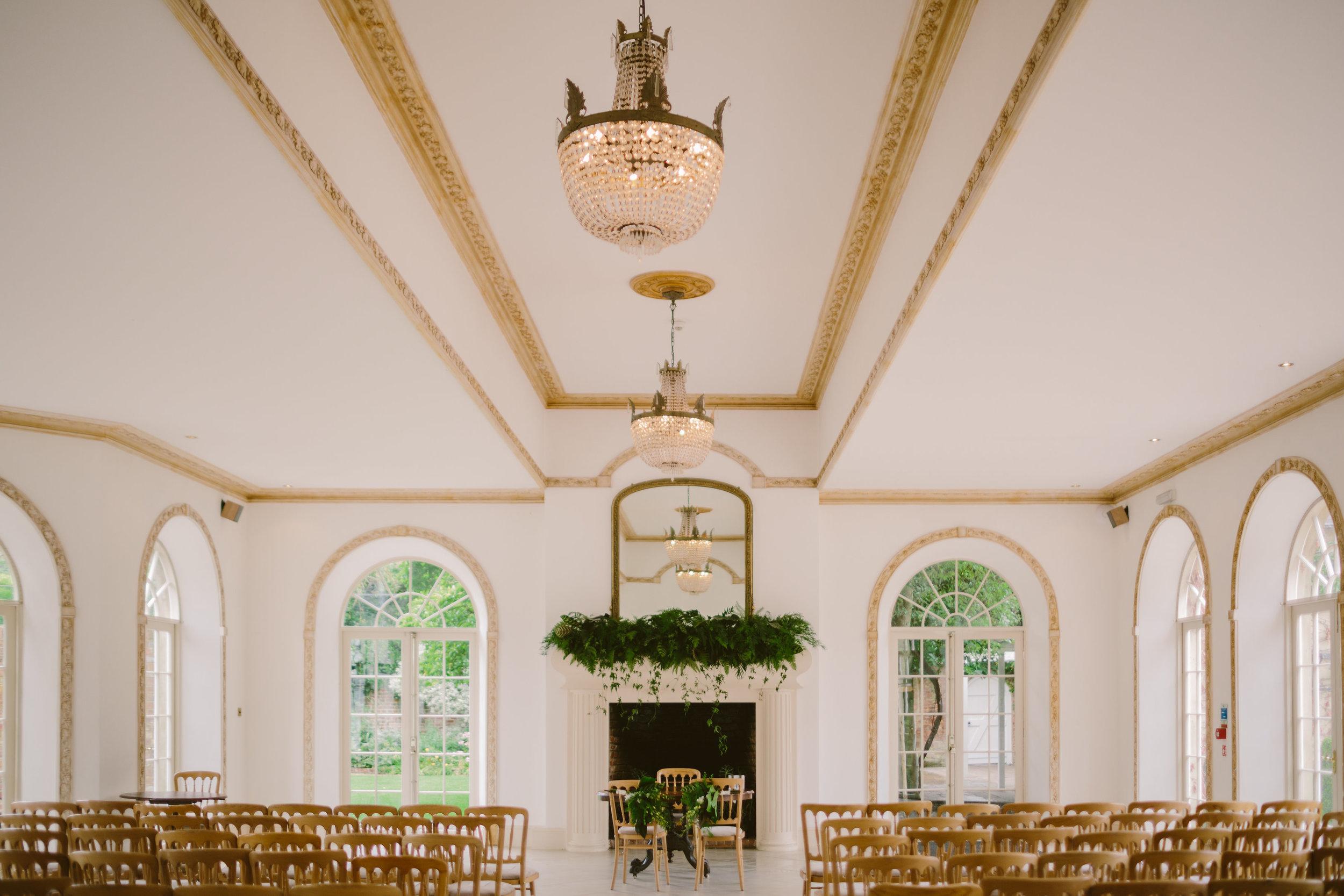 Nice bunch ethical floral design studio flower garden by Sula Northbrook Park wedding mantle piece