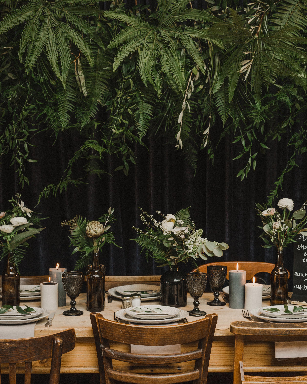 Nice bunch ethical floral design studio flower garden by Sula table arrangement Rock n Roll Bride Magazine Tufnell Park Tavern wedding foliage cloud