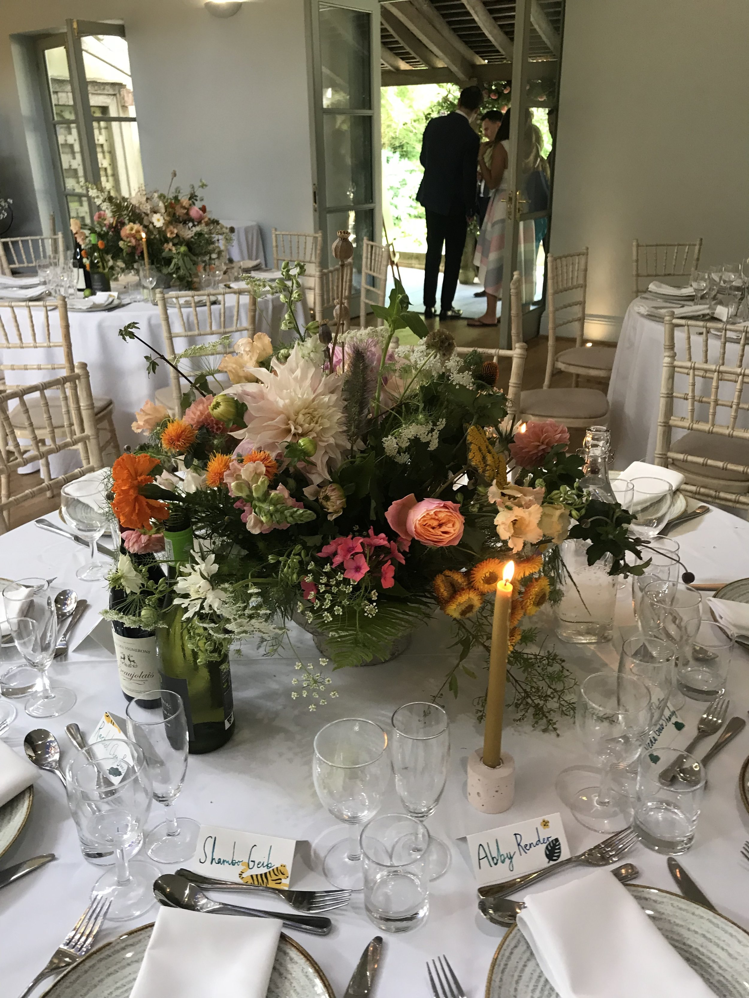 Nice Bunch Ethical floral design studio flower garden by Sula British luxury Matara Centre table placement wedding