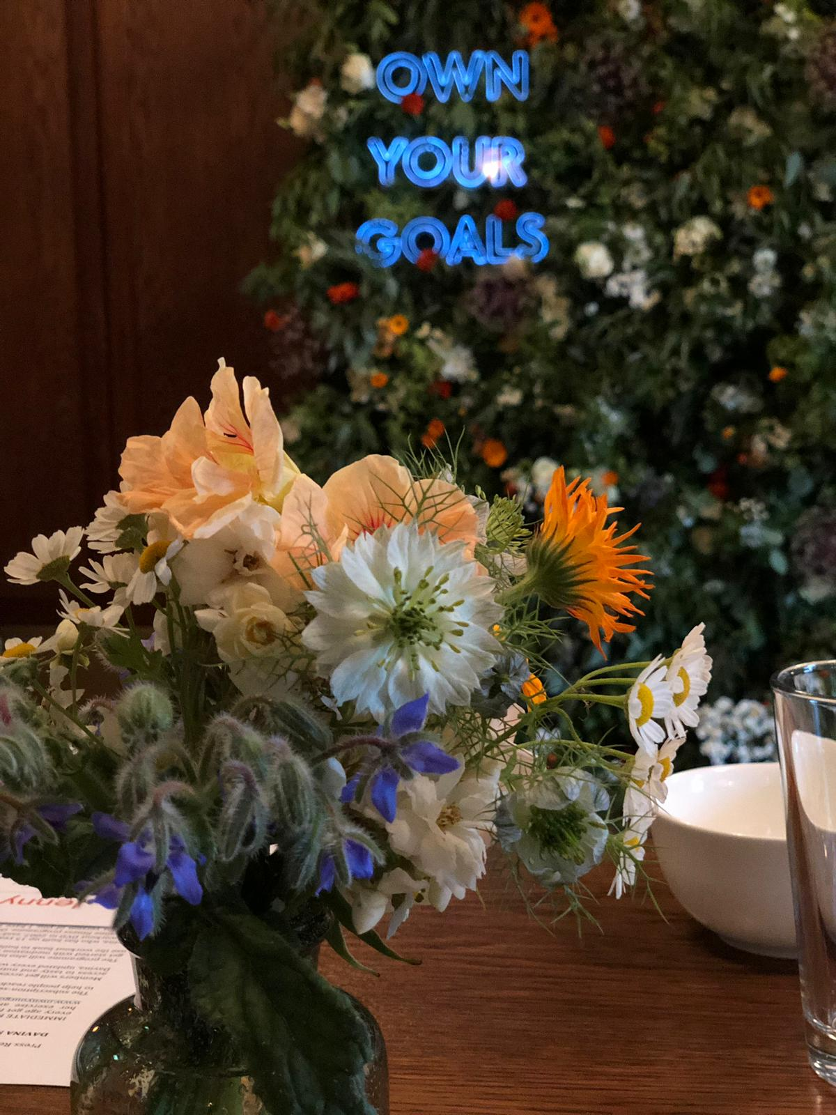 Nice bunch ethical floral design studio flower garden by Sula White City House Davina McCall Own Your Goals