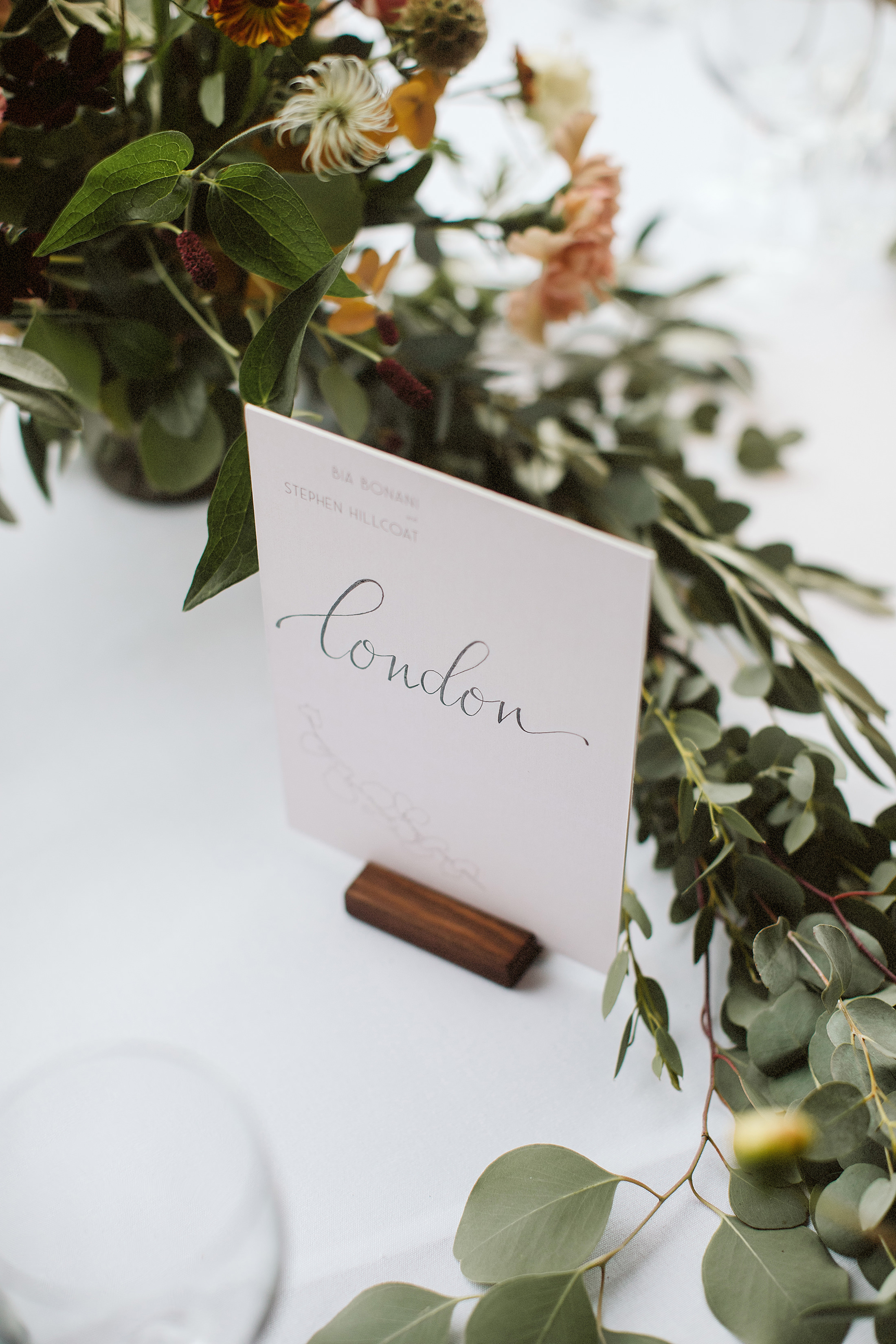 Nice Bunch Ethical floral design studio flower garden by Sula British luxury place settings eucalyptus Stone Barn Cotswolds wedding