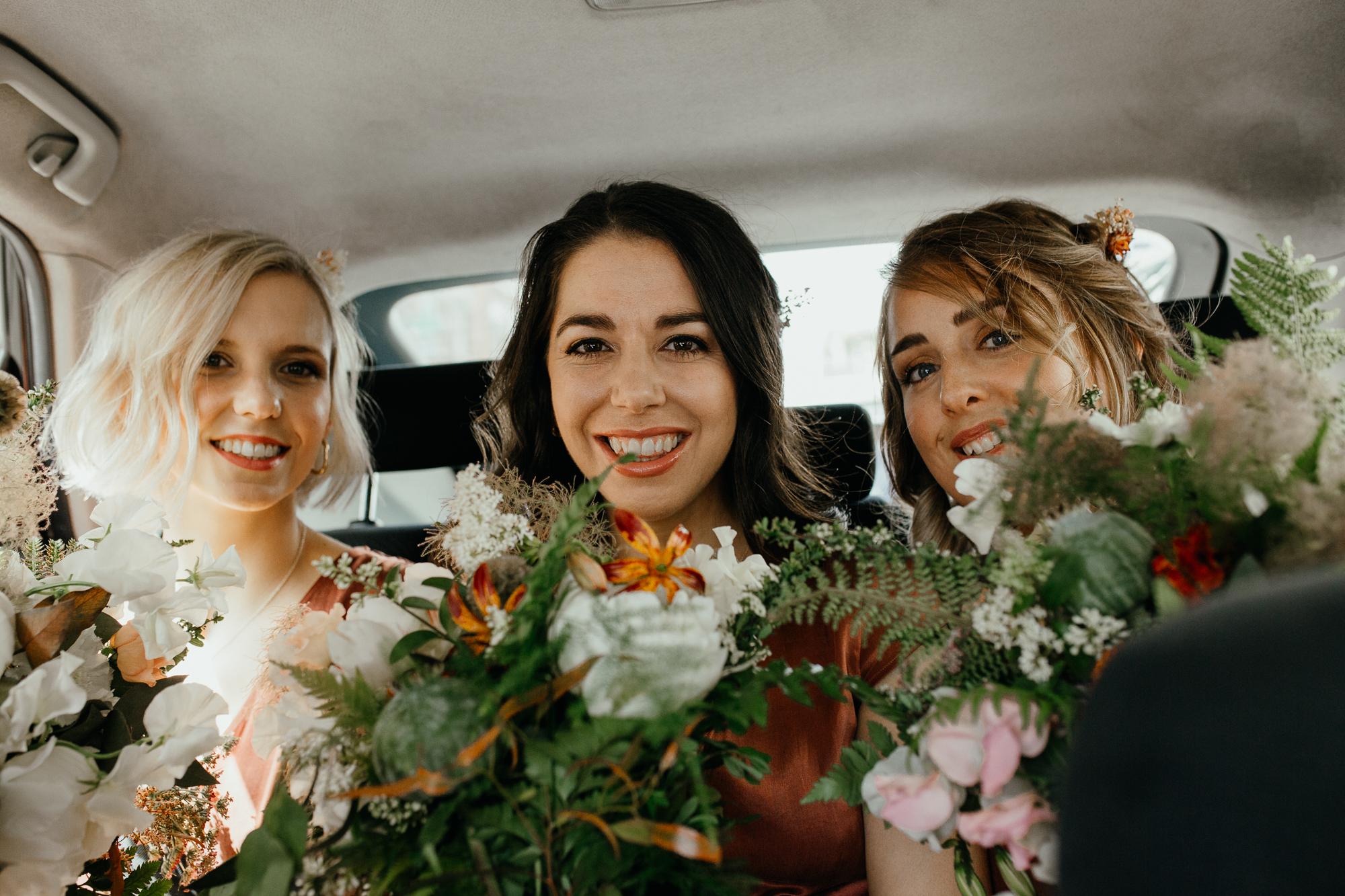Nicebunch wedding flowers sula london-islington-town-hall-depot-n7 ethical british luxury bridesmaid bouquets ferns stephanie-green-wedding-photography