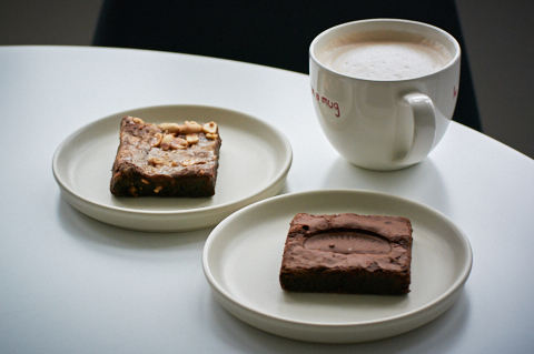 Salted peanut brownie and chocolate orange brownie from Brown and Blond