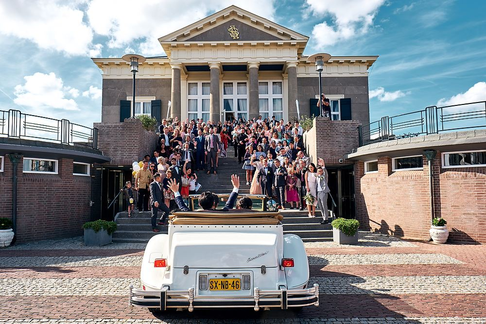 bruidsfotografie bij Paviljoen de Witte in Scheveningen