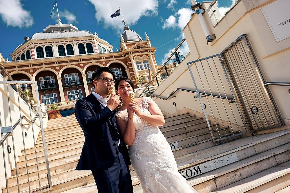 huwelijksfotografie bij het Kurhaus in Scheveningen