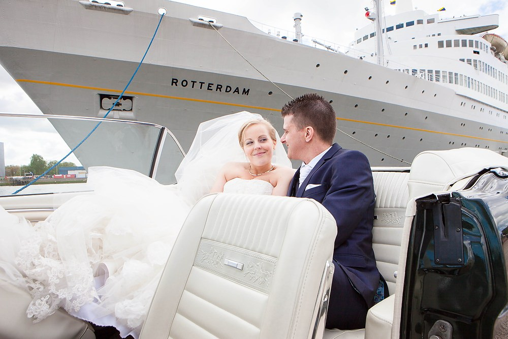 trouwshoot trouwreportage in de SS Rotterdam 2
