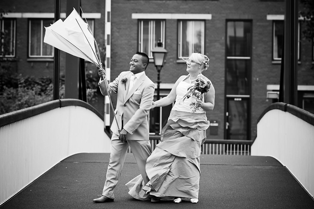 trouwshoot trouwreportage Delfhaven Rotterdam