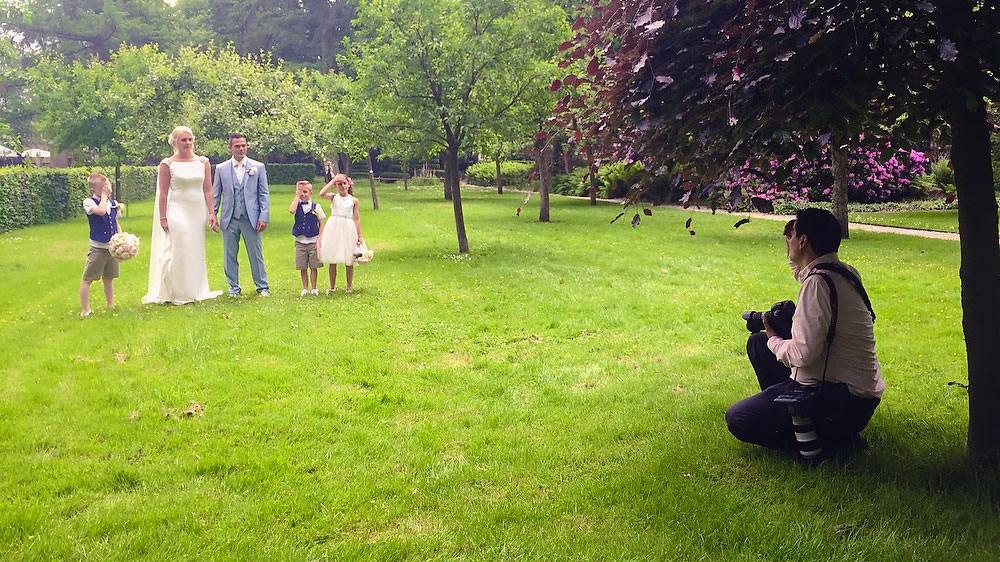 bruidsfotograaf aan het werk