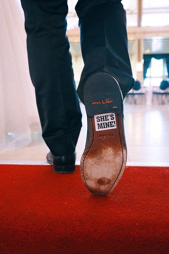 trouwshoot bruidsfotografie schoen detail