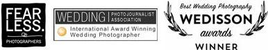 PWJA, Fearless en Wedison awards logo's