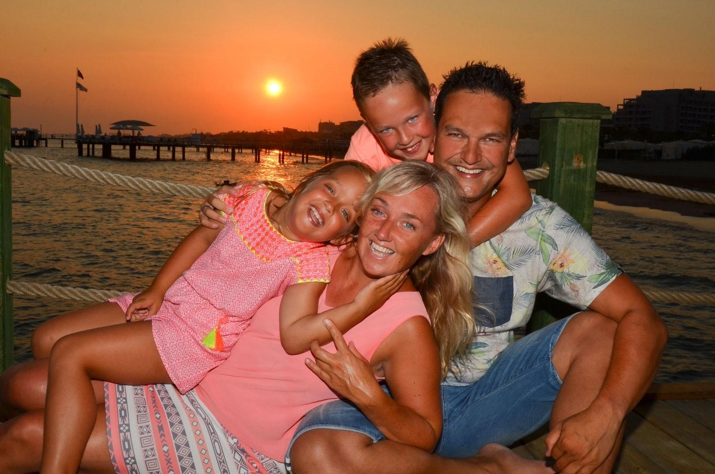 Stefan met zijn gezin