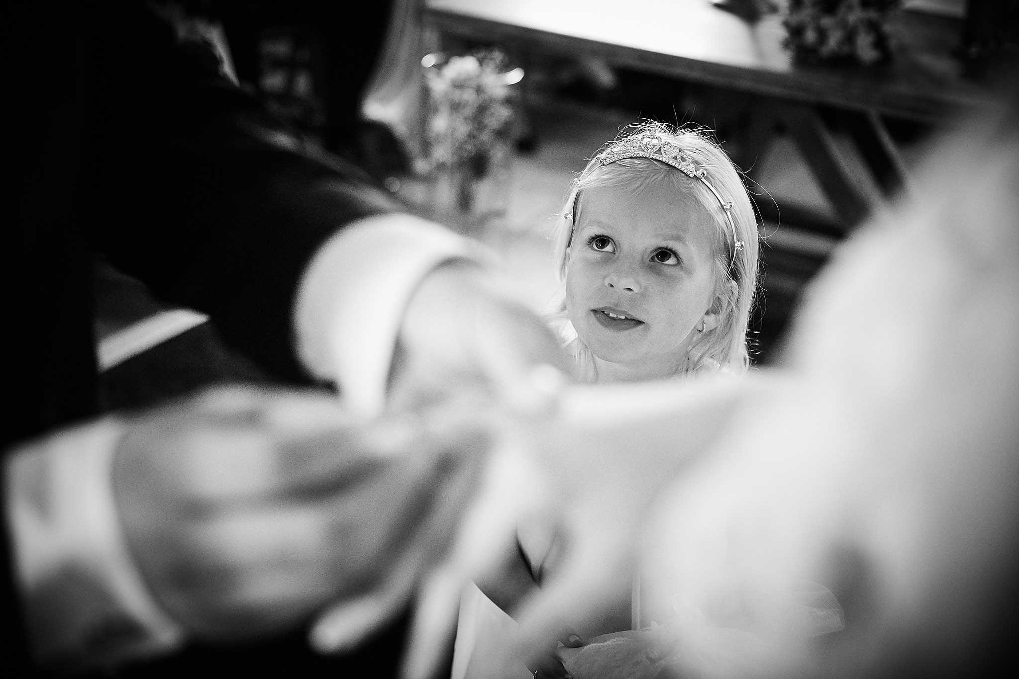 trouwshoot bruidsfotografie tijdens de ceremonie