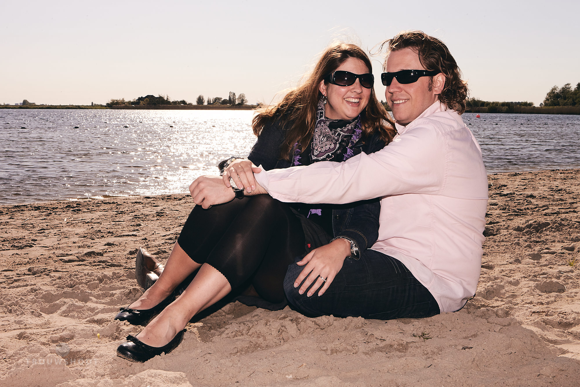 trouwshoot loveshoot op he strand