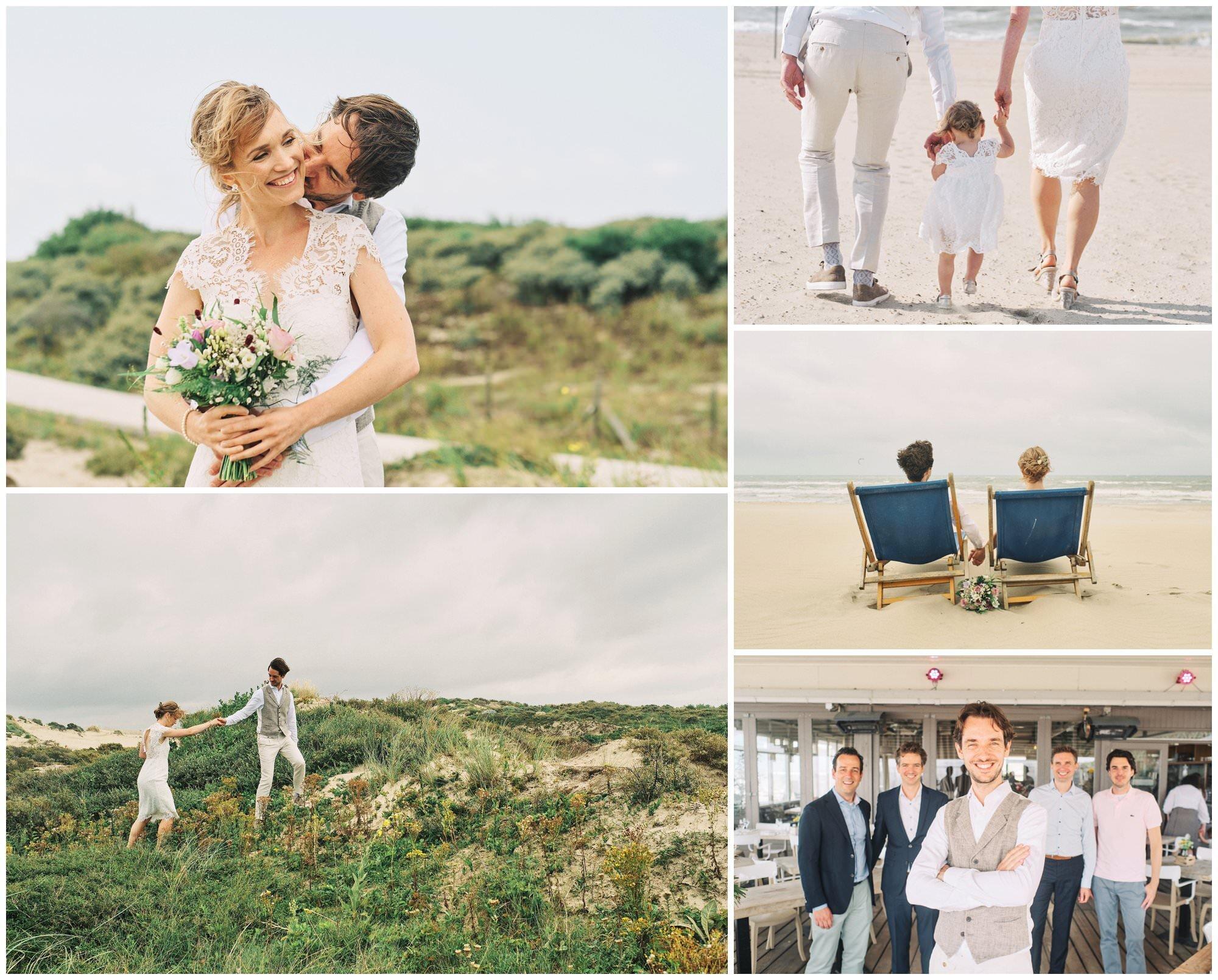 Annemieke en Jaap - bruidsfotografie op het strand van Kijkduin
