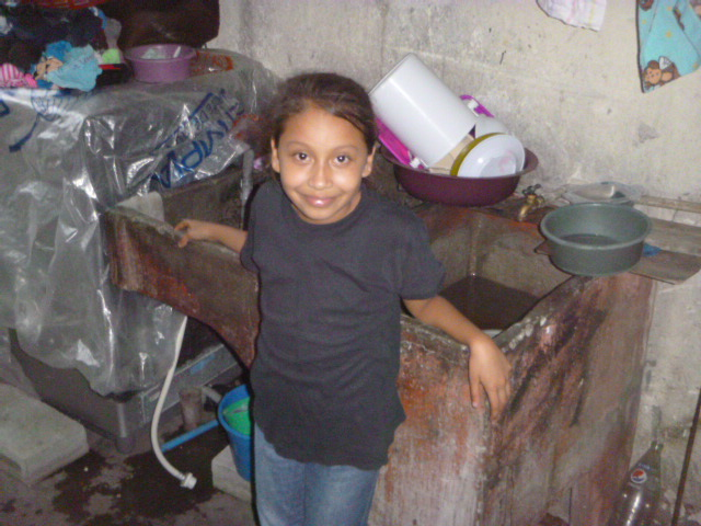 Fernanda in her kitchen