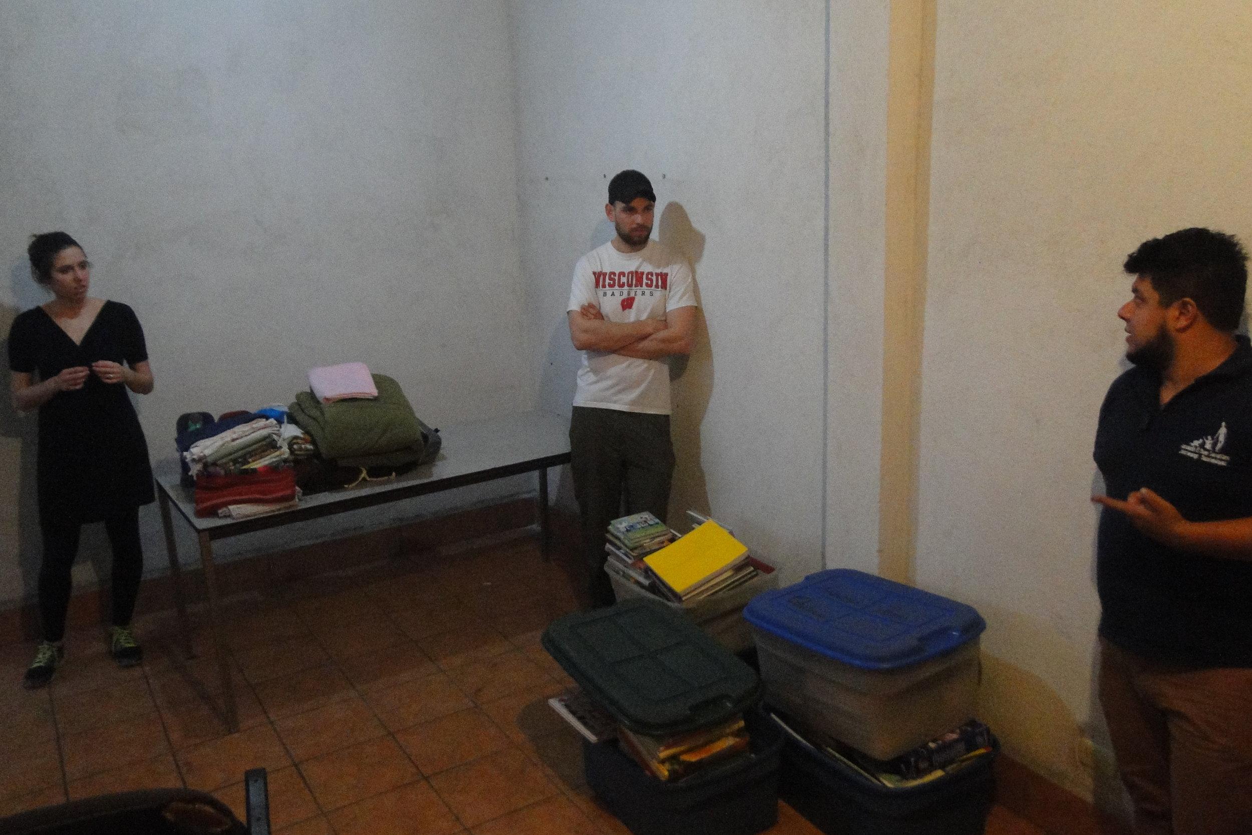 The room before we began working
