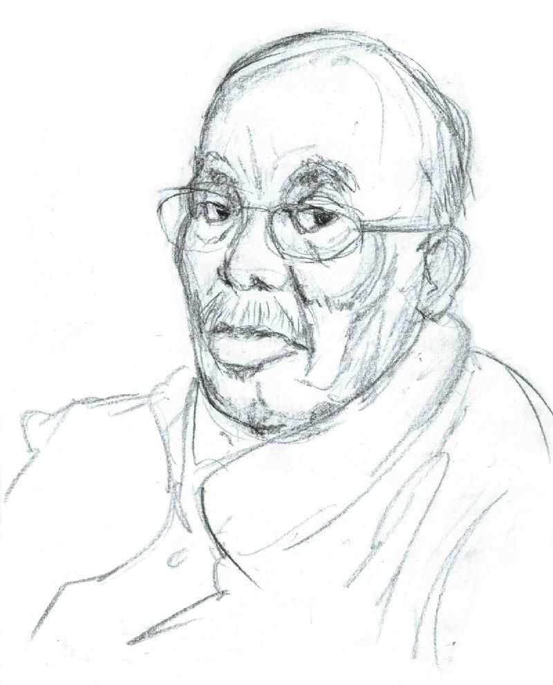 Portrait of my grandfather, 2014