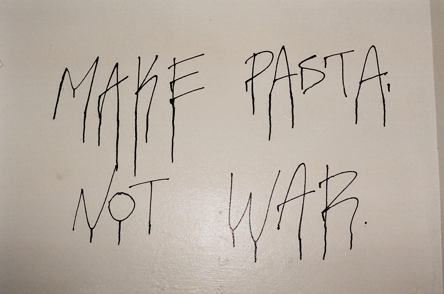 15.3.16 - MAKE PASTA NO WAR