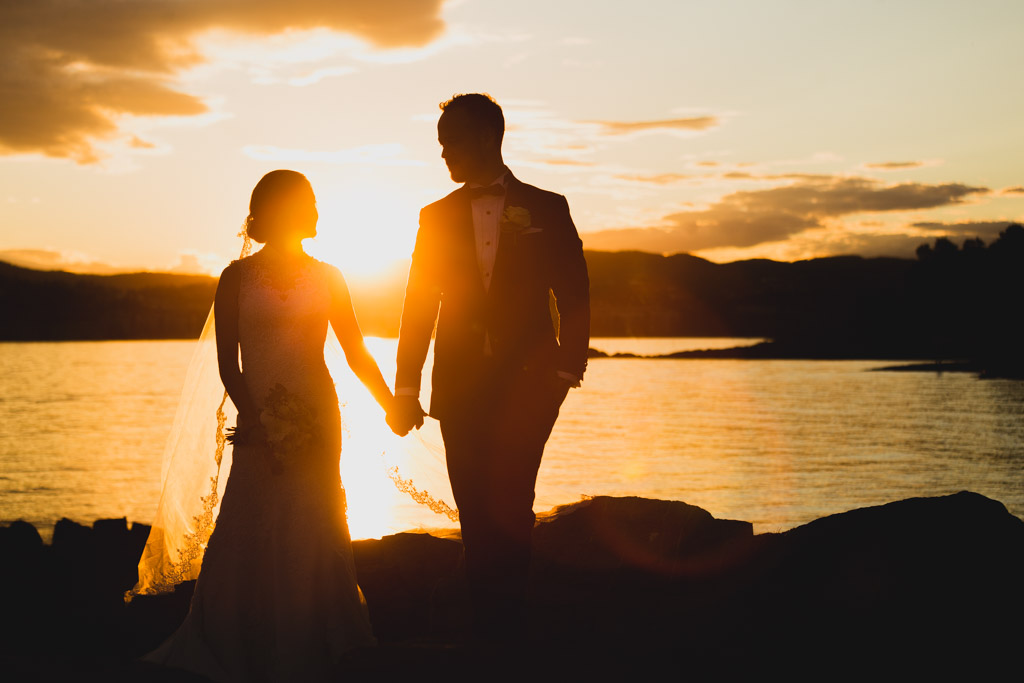 Oslo Sunset Wedding Couple