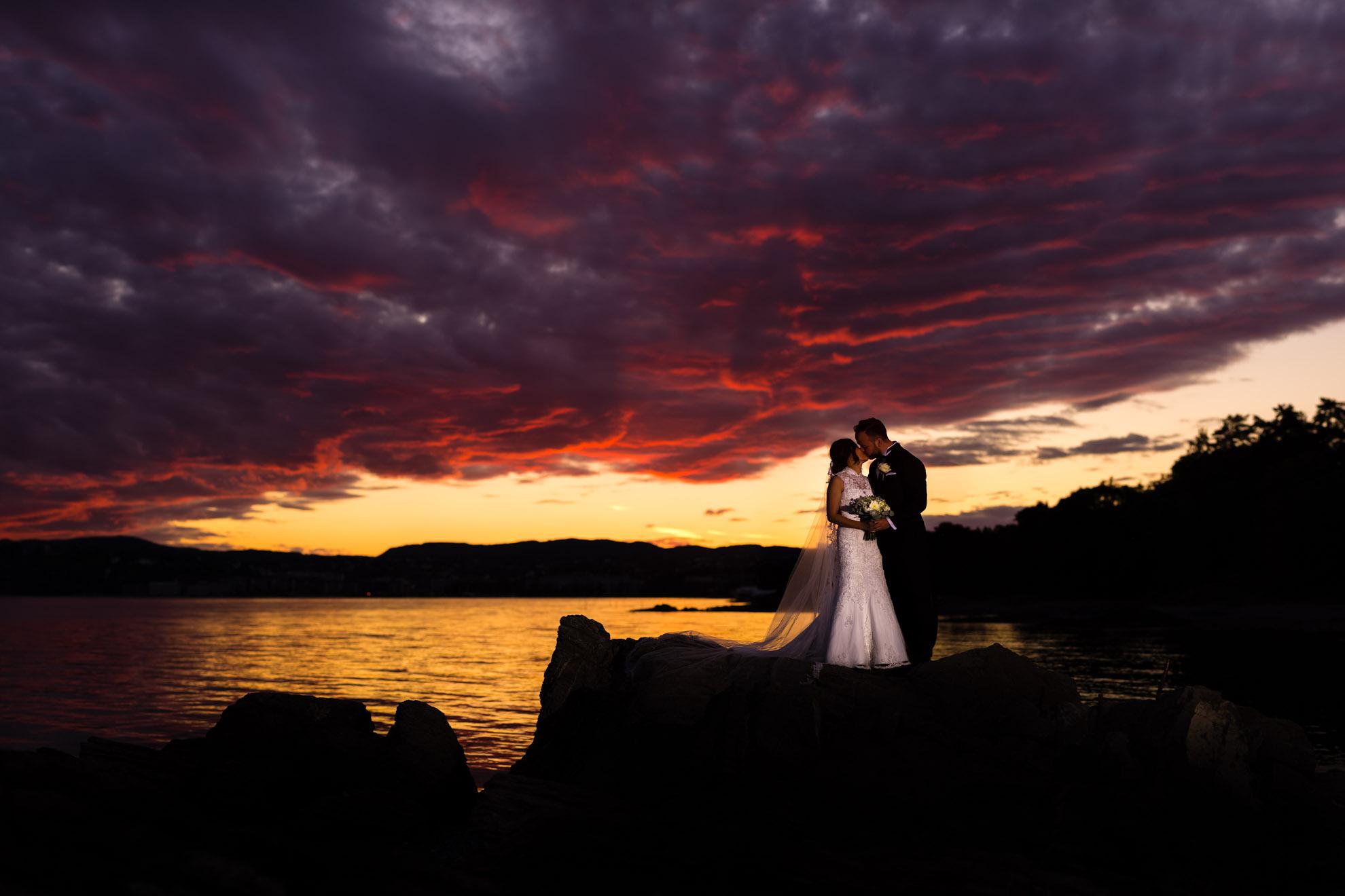 Sunset Wedding  Couple Oslo