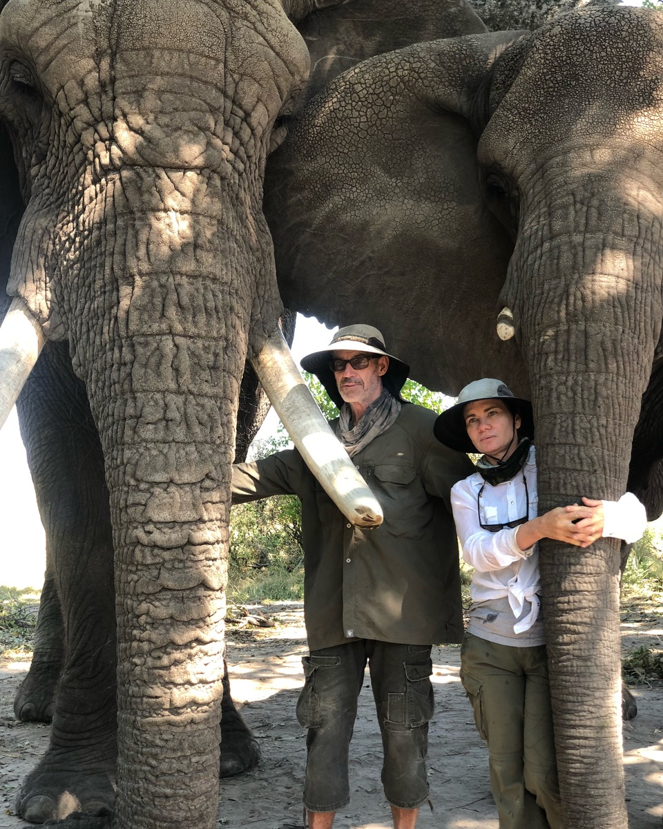 Doug and Sandi Groves,Jabu and Morula - Dodo Heroes and our beloved herd