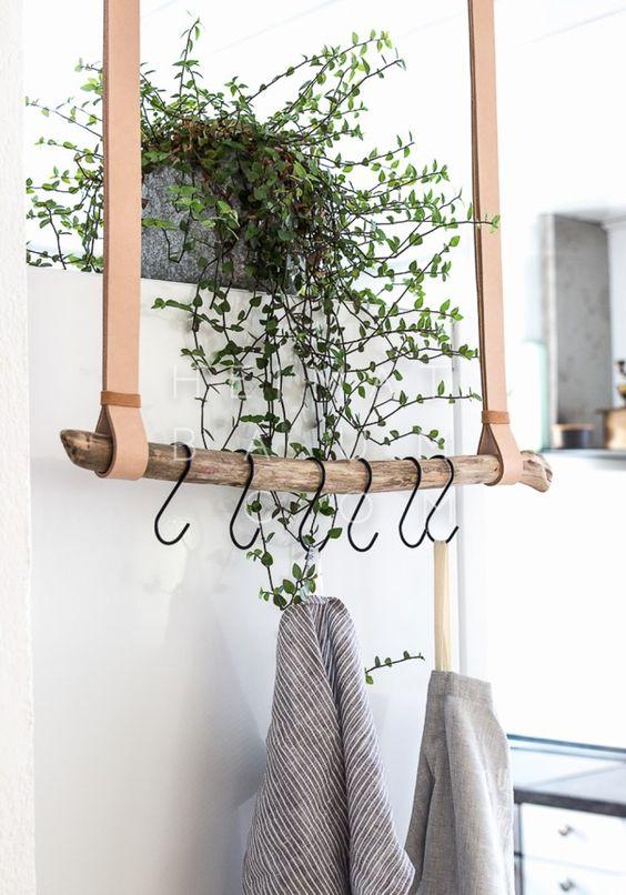 Een DIY-projectje dat eventueel kan dienen als kapstok voor jassen of handdoekjes