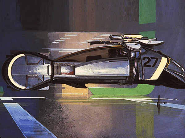 Design for the Spinner in Blade Runner.