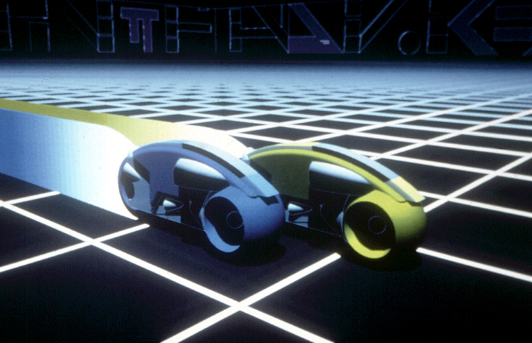 Syd Meads design for the light cycles in Tron.