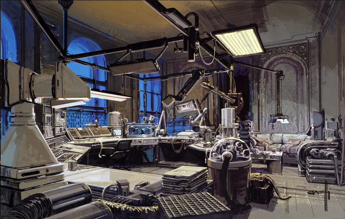 An interior environment design for Blade Runner.