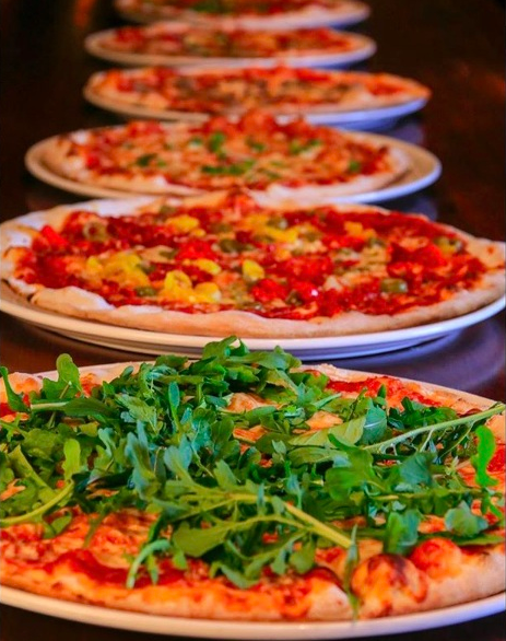 Pazzo Pizzeria and Taverna, always tasty food and friendly service.