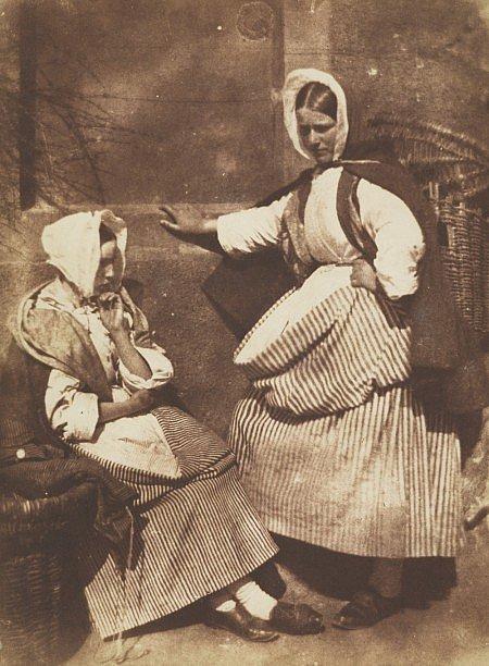 Two Newhaven Fishwives  David Octavius Hill & Robert Adamson., courtesy of Scottish National Portrait Gallery.