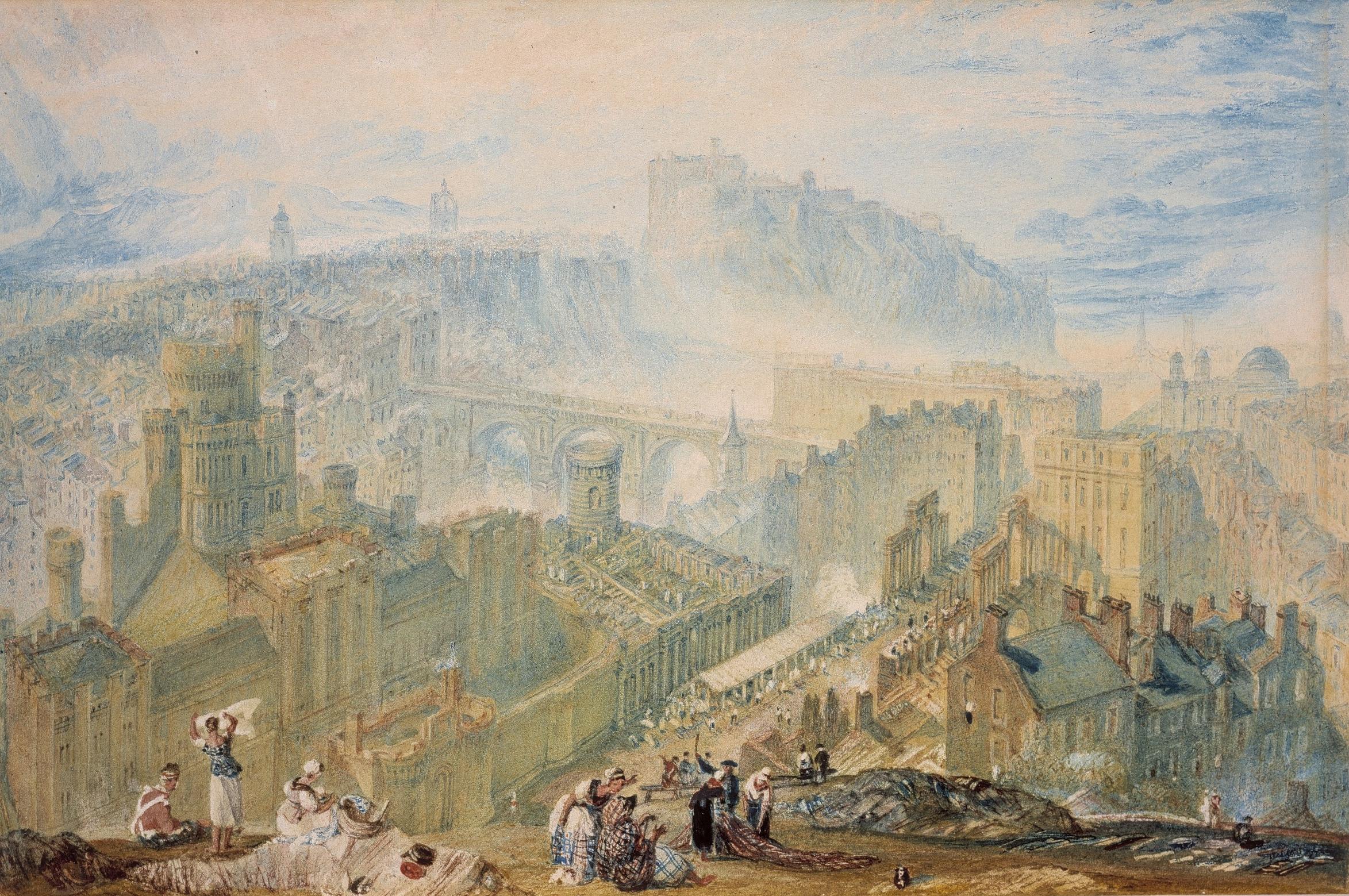 Edinburgh from Calton HIll , William Turner, courtesy of Scottish National Gallery.