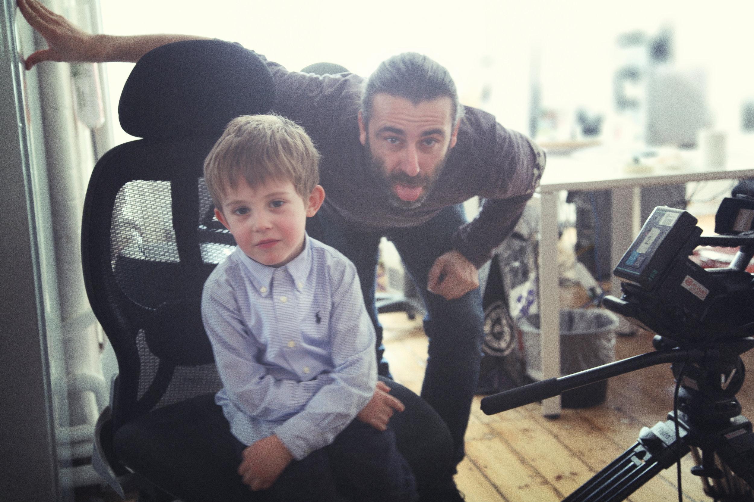 George Tsikos and Riccardo Gagliardi on set at Passion Pictures  (Photo: Greta Invernizzi)