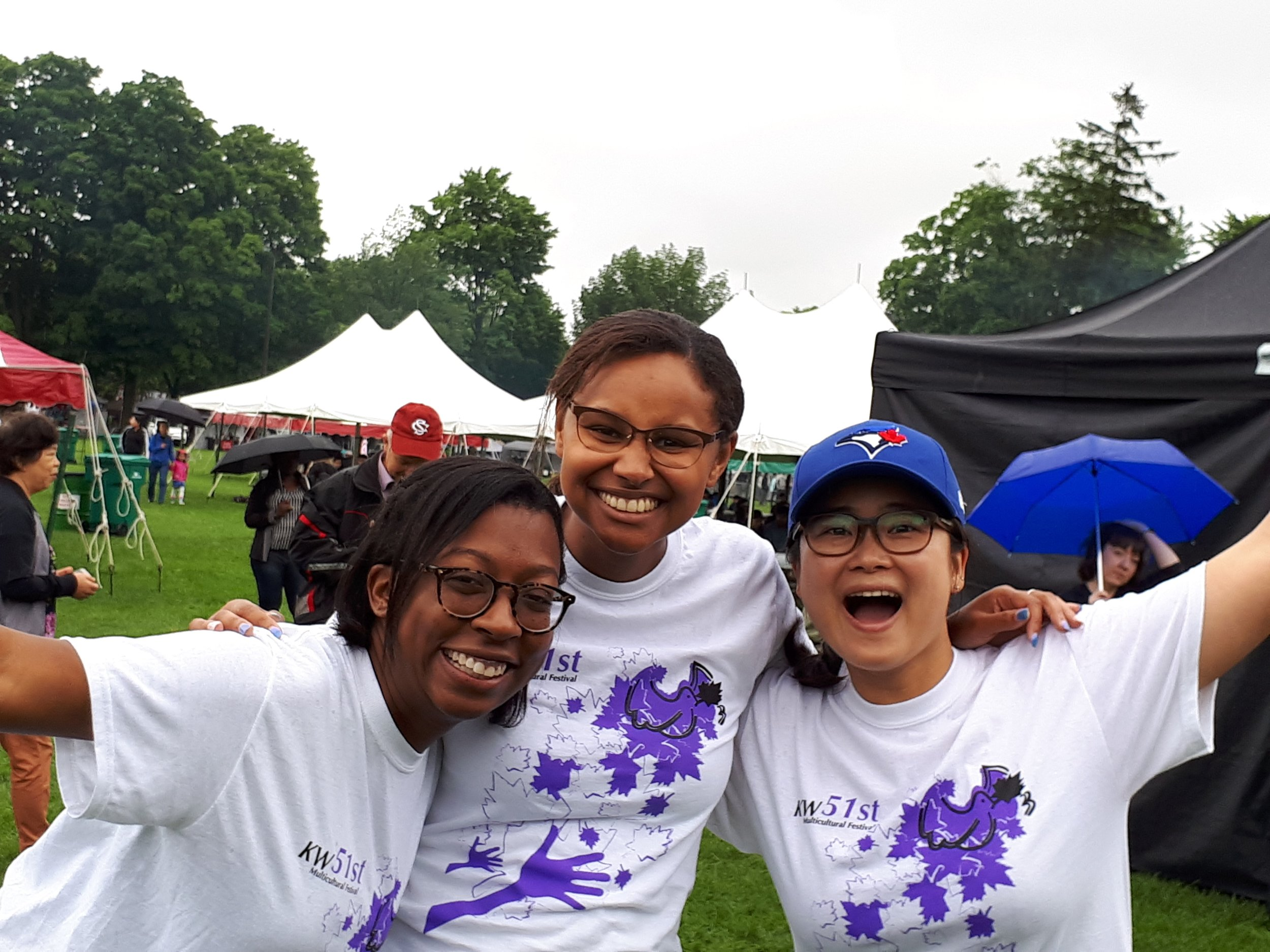 K-W Multicultural Festival - Festival Volunteers help with a variety of jobs throughout the Festival.All volunteers receive a T-shirt as well as a $10 food voucher redeemable at any one of our Food Vendors for each four-hour shift worked!