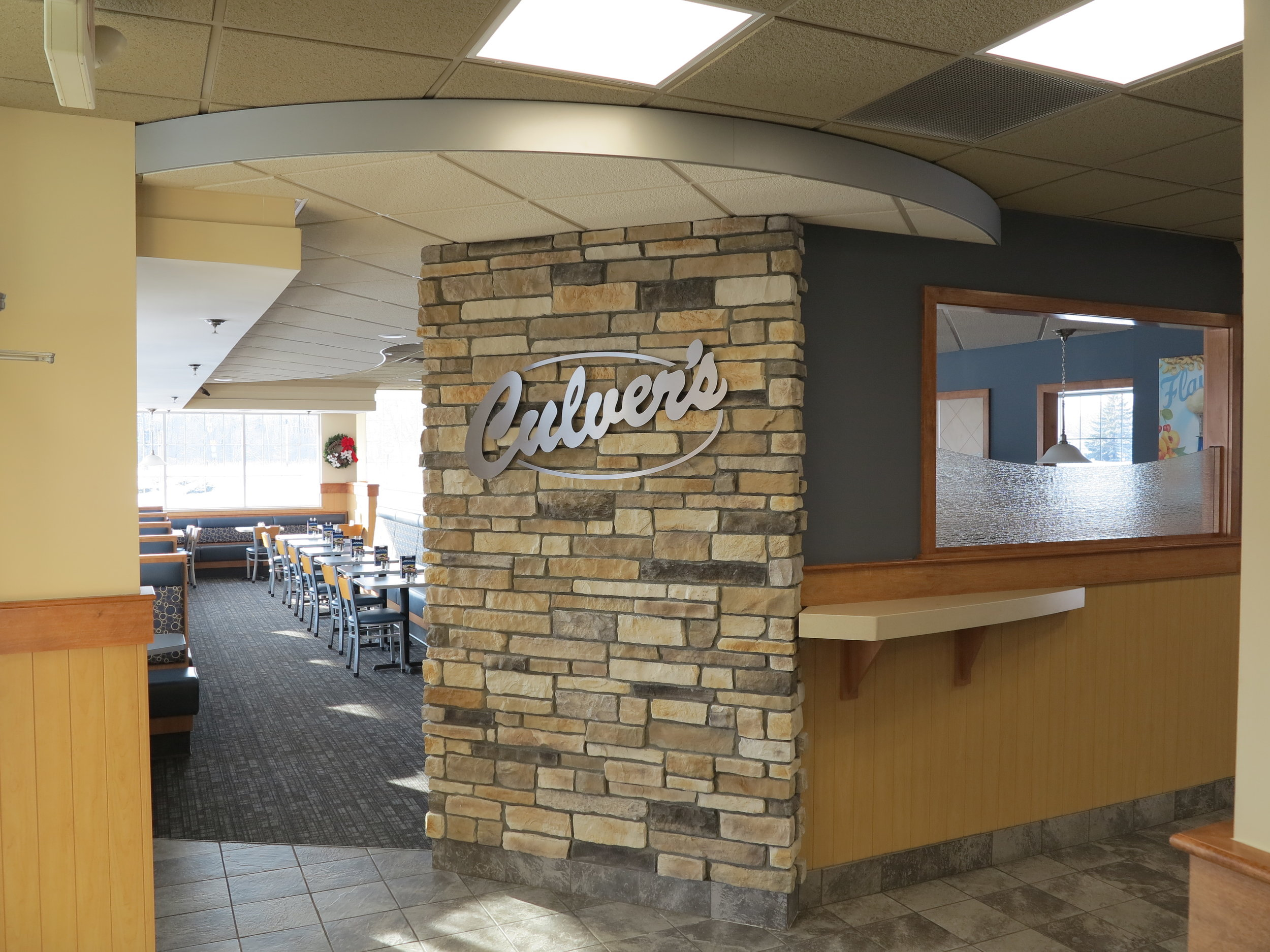 Commercial Painting & Refinishing project for Culver's Restaurant.