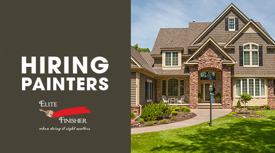 Elite Finisher is Hiring Painters - Professional Painter? Want to work for a Twin Cities top residential/commercial painting company?