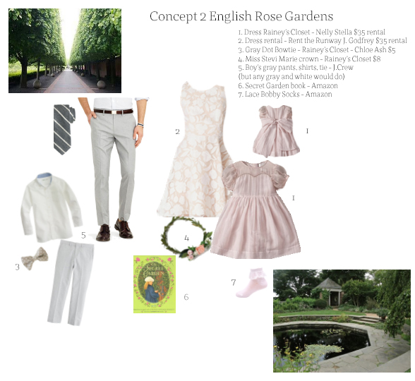 The original concept board created for my styled shoot.