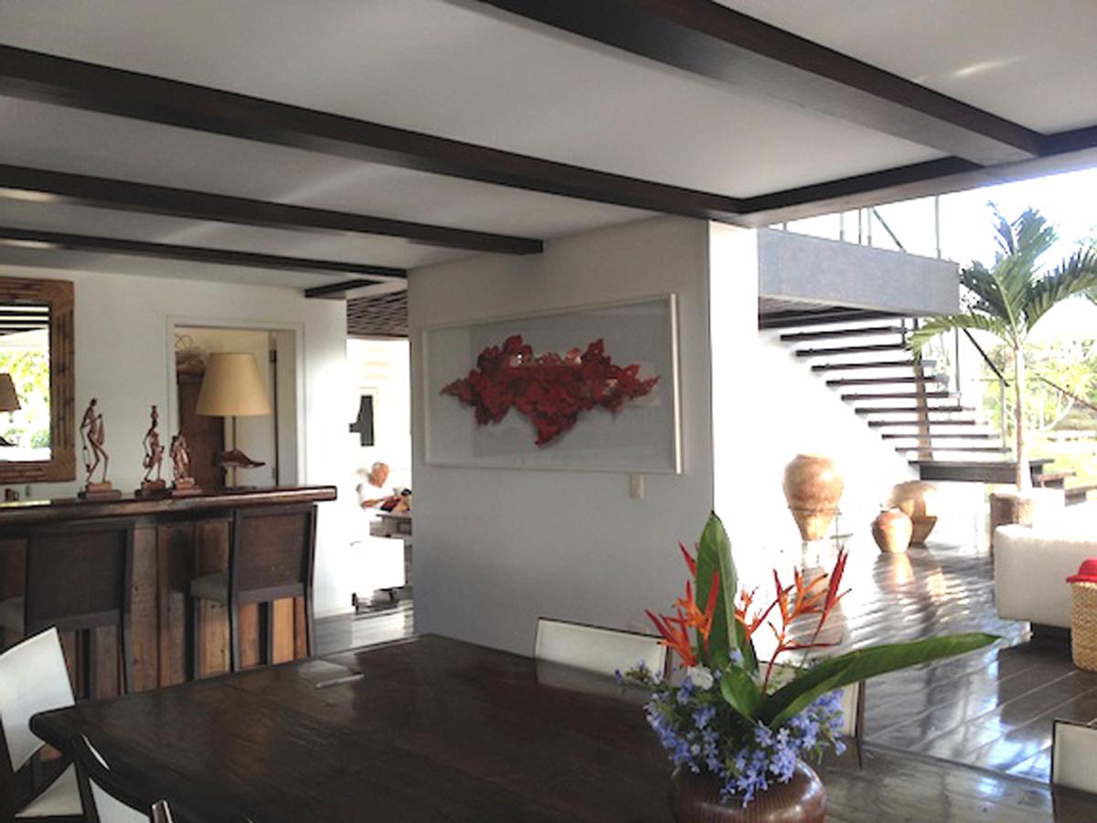 FLAMBOYANT print, in Buzios, Brazil residence