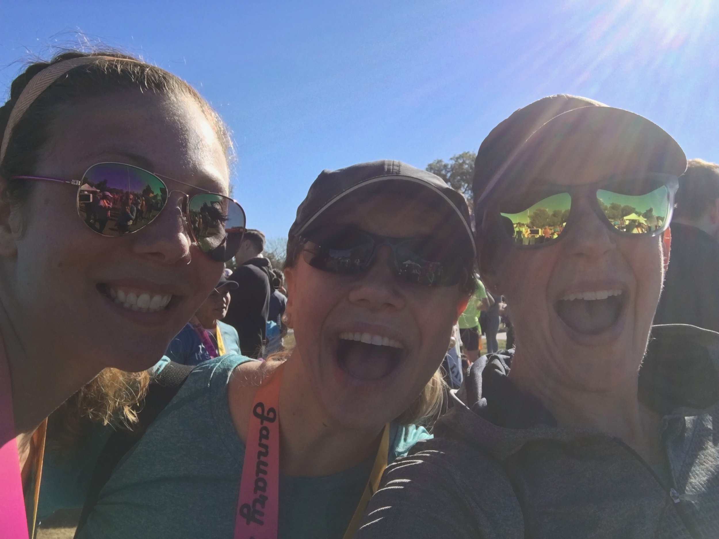 Erica, Caitlin, and I at the Phoenix Women's Half Marathon