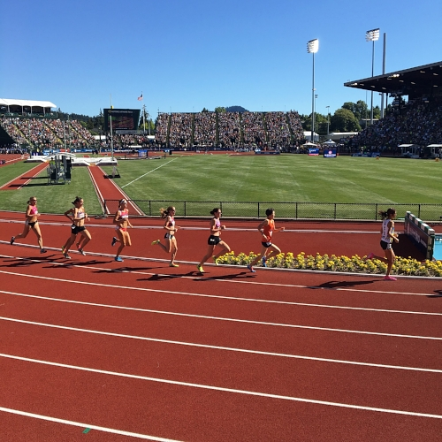 Nerding out over track stars at the USATF Olympic Trials last summer!