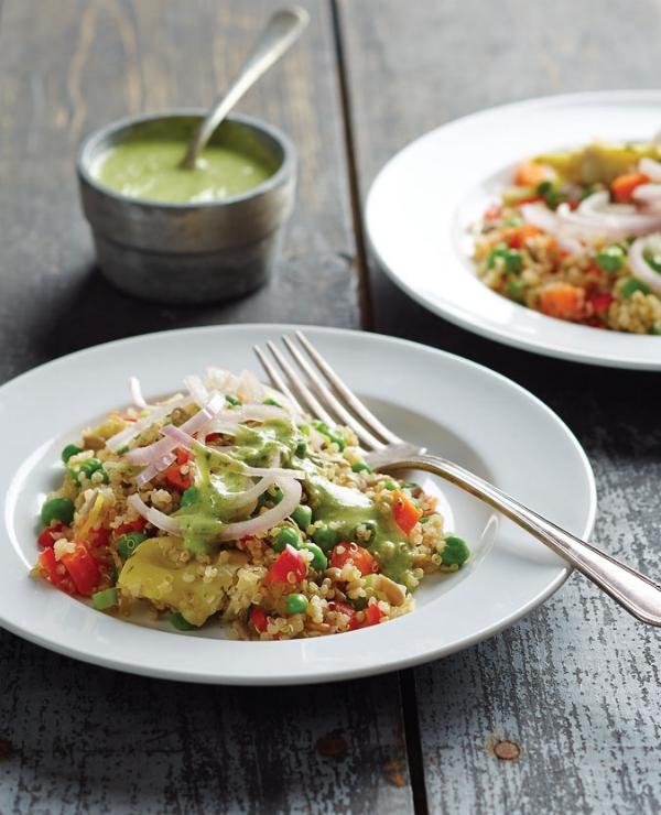Quinoa Primavera from  No Meat Athlete Cookbook