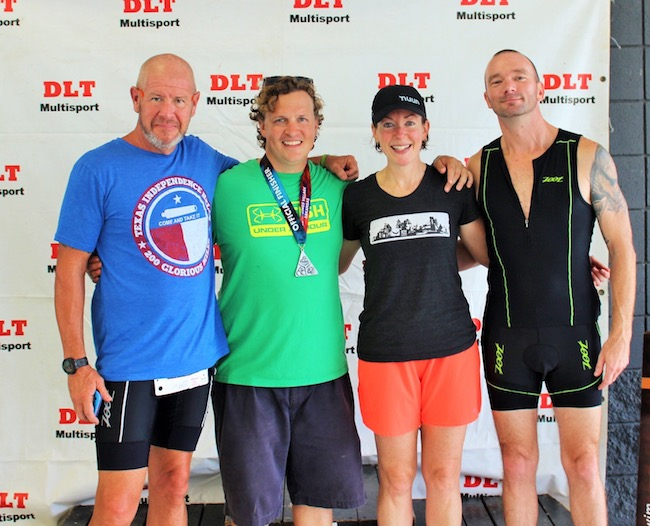 The race group that went along with my brilliant plan: John, Jonathan, me and Chris; not pictured, our amazing support crew - Anita (talented photographer and race manager - photos courtesy of this lady!) and Nikki (phenomenal cheerleader)!