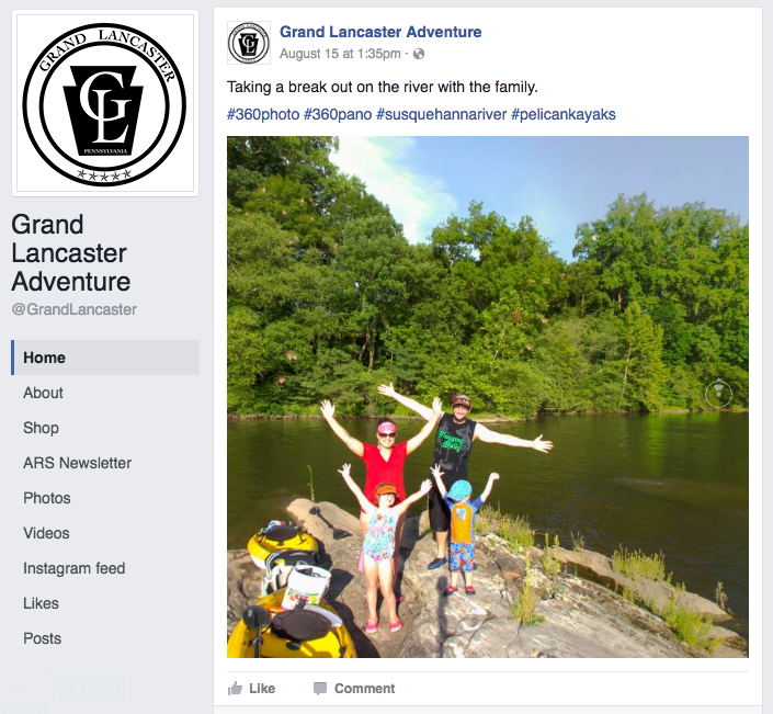 Grand Lancaster Facebook Profile