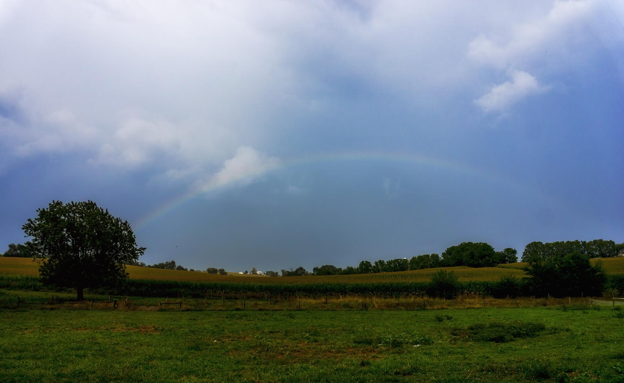 Rainbow over New Holland 8-31-16