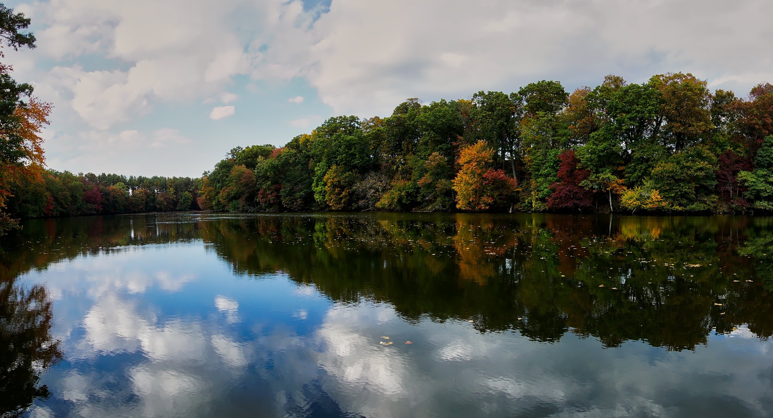 Fall foliage at the Octoraro Reservoir.