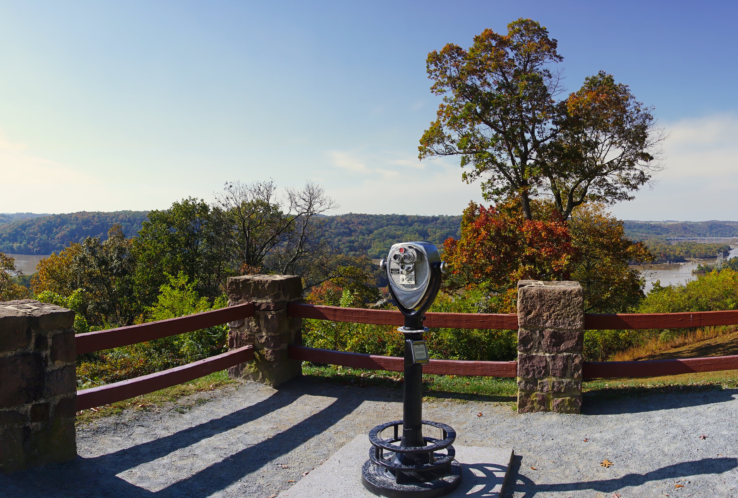Panoramic view towards the Northwest from the Overlook at the Susquehannock State Park.