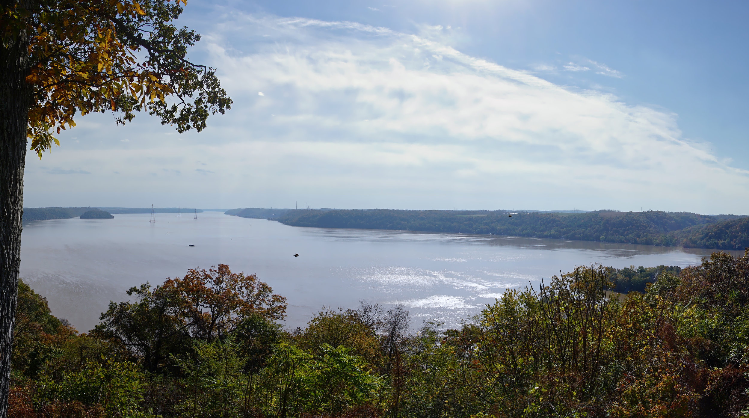 Panoramic view towards the South/Southwest from the Overlook at the Susquehannock State Park.