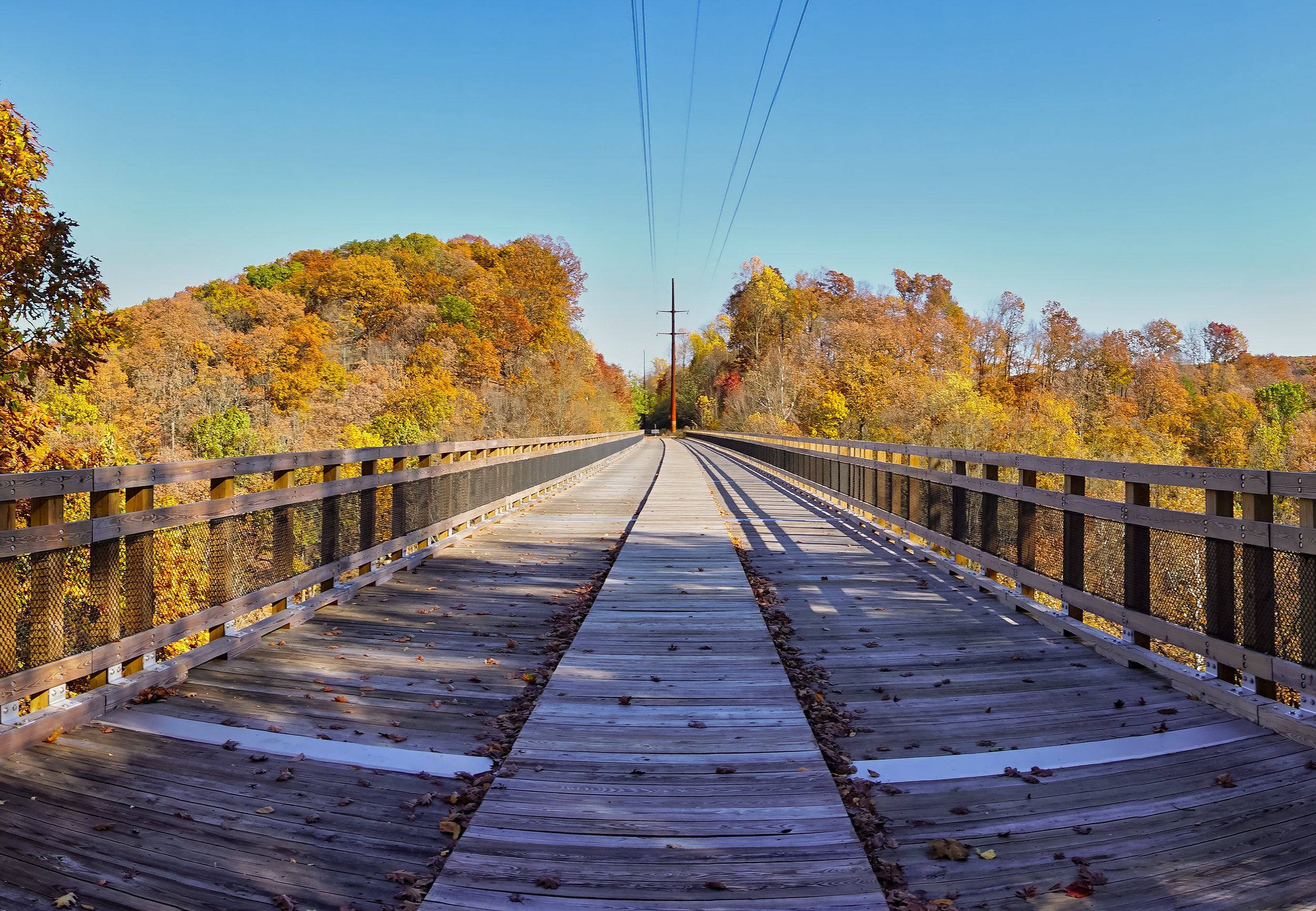 Panoramic View of the Martic Forge Viaduct.
