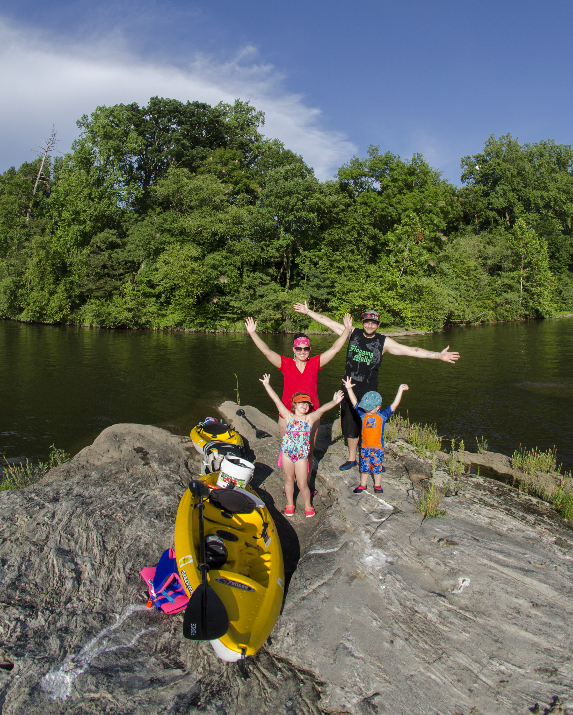 Dochter Family Photo Op while capturing 360 Panos along the Susquehanna River.